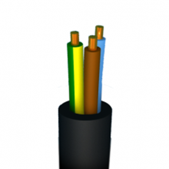 Rubber 3G 2,5mm - 1 m